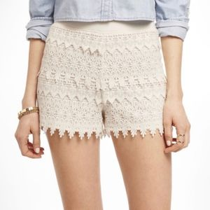 NWT Express white lace shorts size Medium